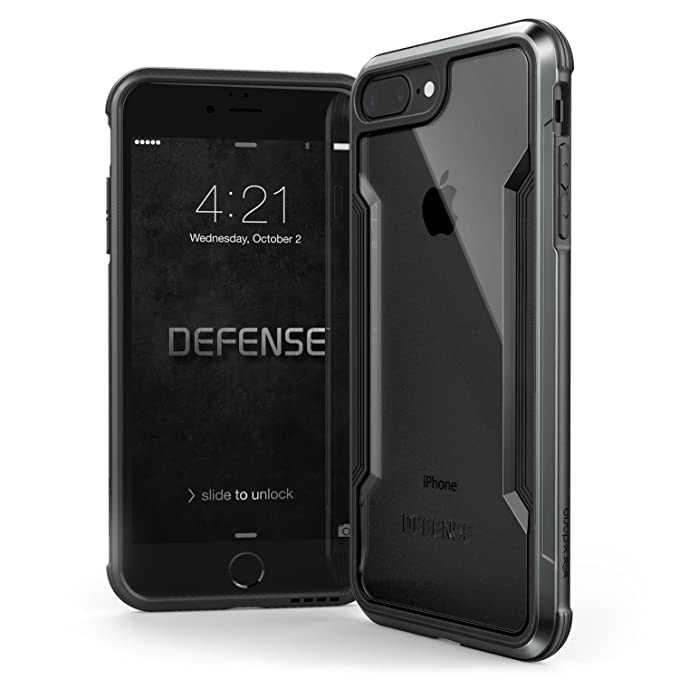 low priced bacd0 d138c iPhone 8 Plus & iPhone 7 Plus Case, X-Doria Defense Shield Series -  Military Grade Drop Tested, Anodized Aluminum, TPU, and Polycarbonate  Protective ...
