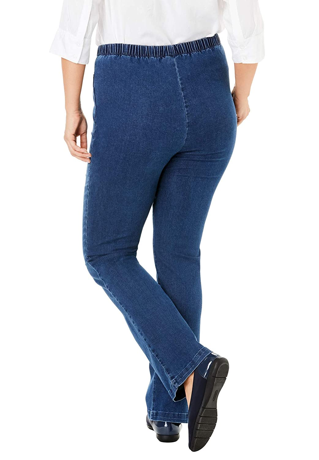 23bd44f49b5 Woman Within Women's Plus Size Bootcut Fineline Jean at Amazon Women's  Jeans store