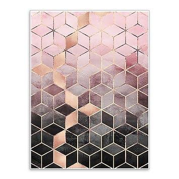 Display08 Gradient Cubes Art Mural Poster Tableau Peinture Home