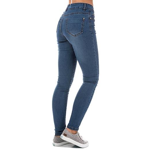 Brave Soul Jean Skinny 5 Poches Bleu Femme  Amazon.fr  Vêtements et  accessoires bd363c2cd595