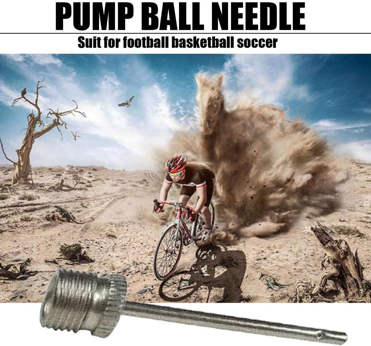 Silver Kurphy Sports Inflating Needle Pin Nozzle Football Basketball Soccer Ball Air Pump