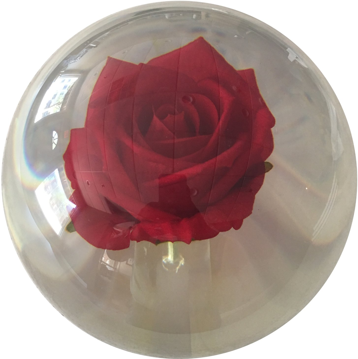 KR Clear Red Rose Bowling Ball 14lbs