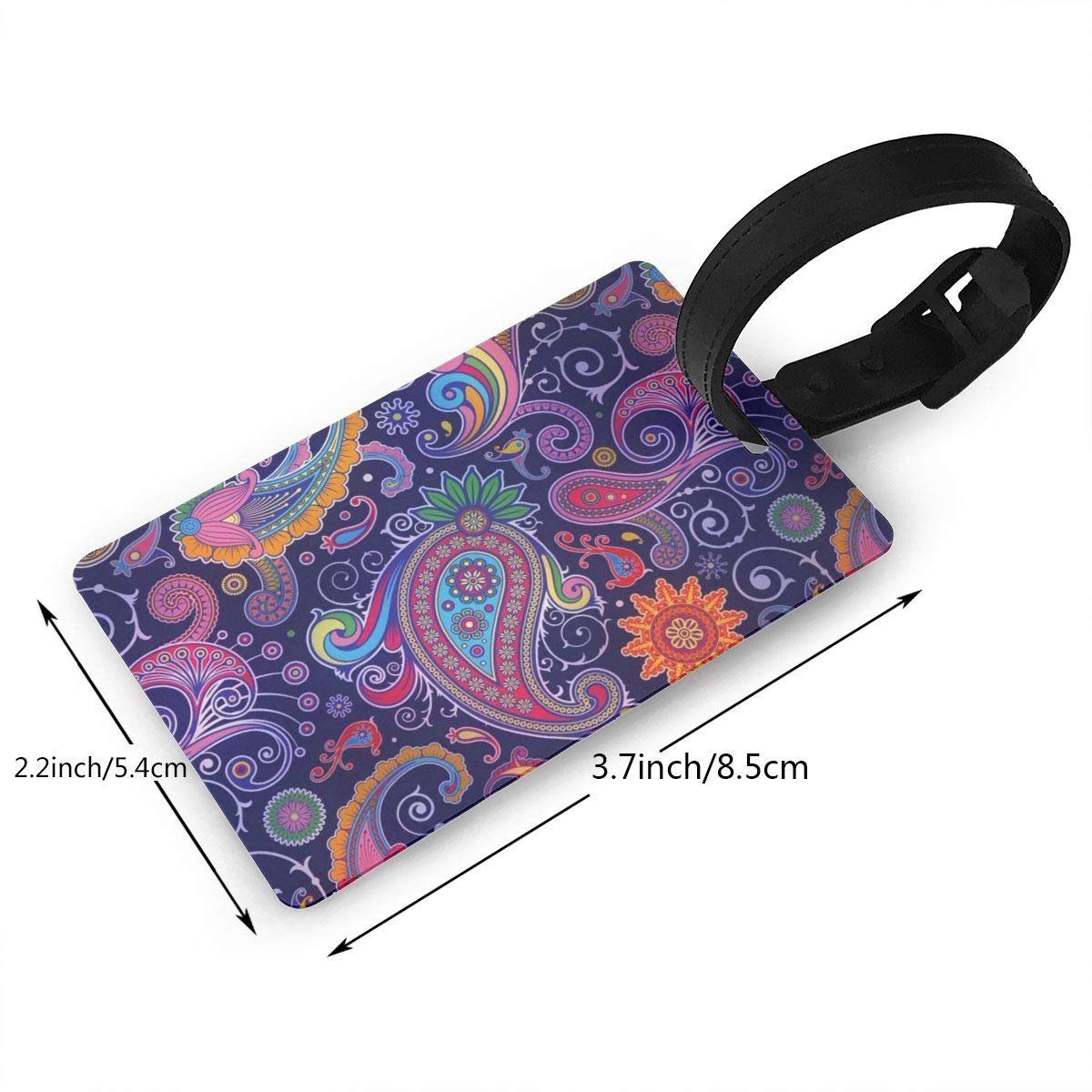 2 Pack Luggage Tags Paisley Pattern2 Baggage Tag For Travel Bag Suitcase Accessories