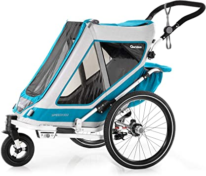 Qeridoo Speedkid 2 (2020) - Remolque de bicicleta para 2 niños ...