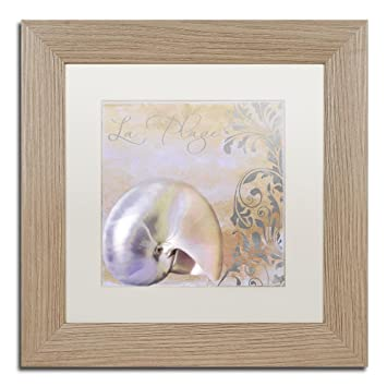 Amazon.com: Painted Sea IV by Color Bakery, White Matte, Birch Frame ...
