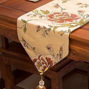 Bandera de Mesa Tabla café Mesa de café Hotel Bandera Cama Cola Toalla Fiesta de Boda decoración del Partido (Color : Oro, Tamaño : 33 * 150cm): Amazon.es: ...