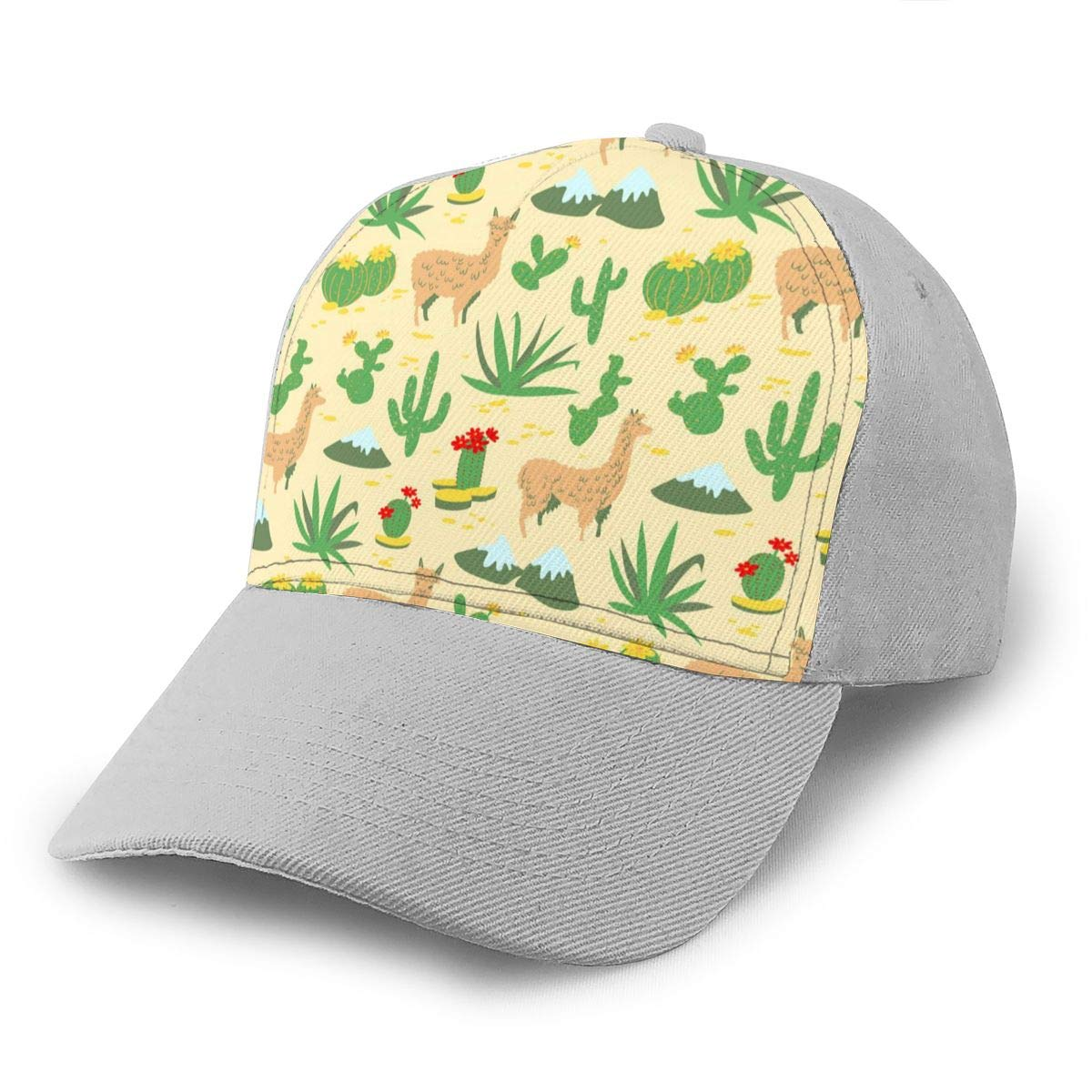 Classic Comfortable Alpaca and Cactus Humor Adjustable Baseball Cap