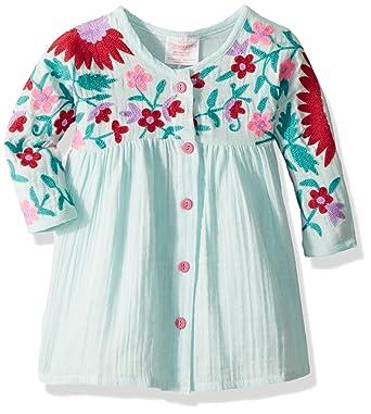 72012e1e9 Amazon.com  Masala Baby Girls Organic Baby Aasha Dress Aqua  Clothing