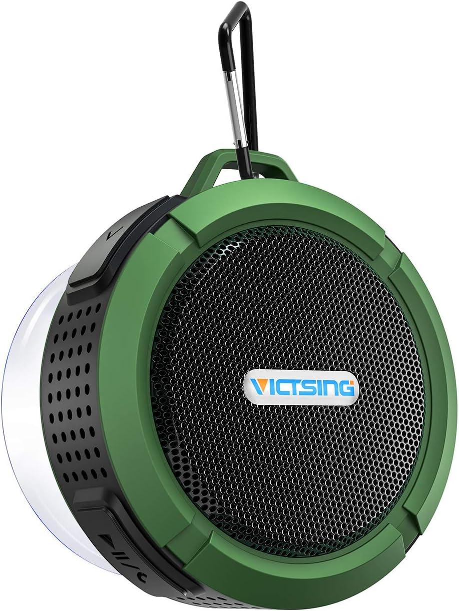 VicTsing Mini Altavoz Bluetooth Ducha, Altavoz Inalámbrico Impermeable de 5W con Micrófono y Manos Libres, 6 Horas de Emisión Continua para Poder Llevarlo Donde Quieras