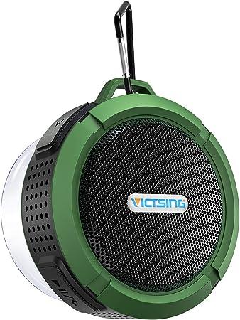 VicTsing Mini Altavoz Bluetooth Ducha, Altavoz Inalámbrico Impermeable de 5W con Micrófono y Manos Libres, 6 Horas de Emisión Continua para Poder ...