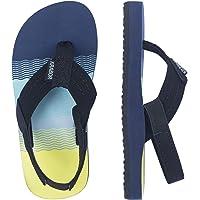Linhuizhen Colorful Footprint Flip Flops Fashion Beach Sandals Slippers for Girls and Boys