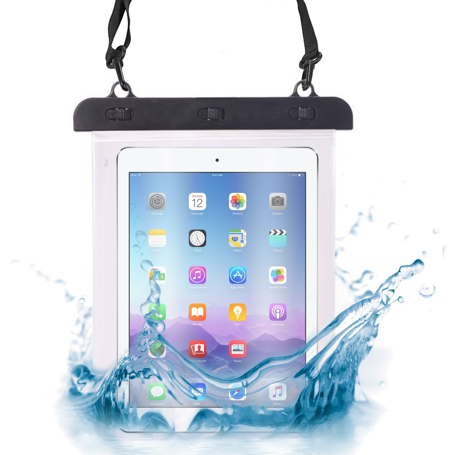 Passport Universal 7 inch // 8 inch Transparent Dry Bag Designed for Waterproof Protection of Tablet Black I-Sonite Money Underwater Cover Suitable for Apple iPad mini 2 retina
