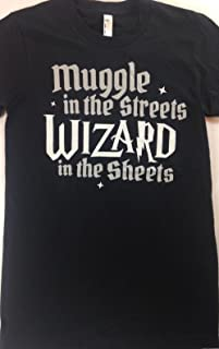product image for American Apparel Muggle in The Streets Wizard in The Sheets Shirt Harry Potter Juniors Sizing Large