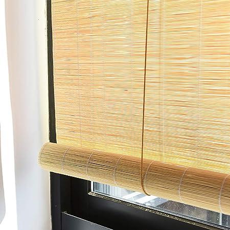 Amazon De Jalousien Bambusrollo Rollos Japanischer Stil Rollos Fur Fenster Kuche Balkon Naturliche