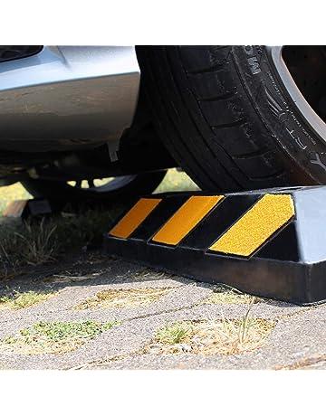 Nrpfell 2 Pcs Antid/érapant V/éhicule Voiture Camion Roue Pneu Cale Stop Bloc Noir