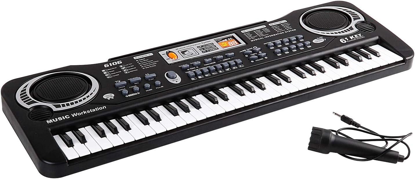 Piano Infantil, 61 Teclas Piano Teclado Infantil Juguete con ...
