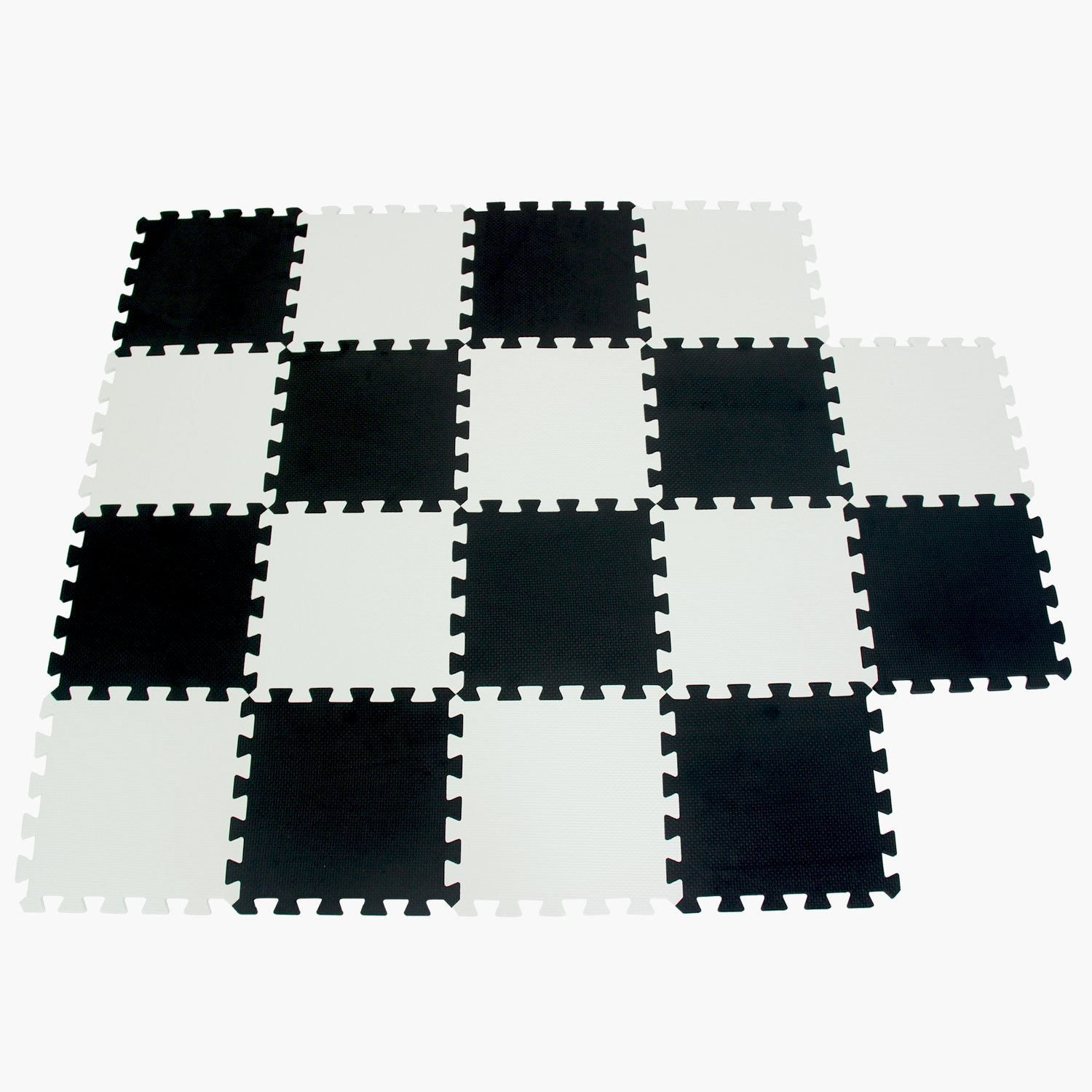 Meiqicool Baby Crawling Mat Puzzle Play Foam Tiles Non Toxic Playmat Floor Mats for Tummy Time, 3510HONG Jiasheng