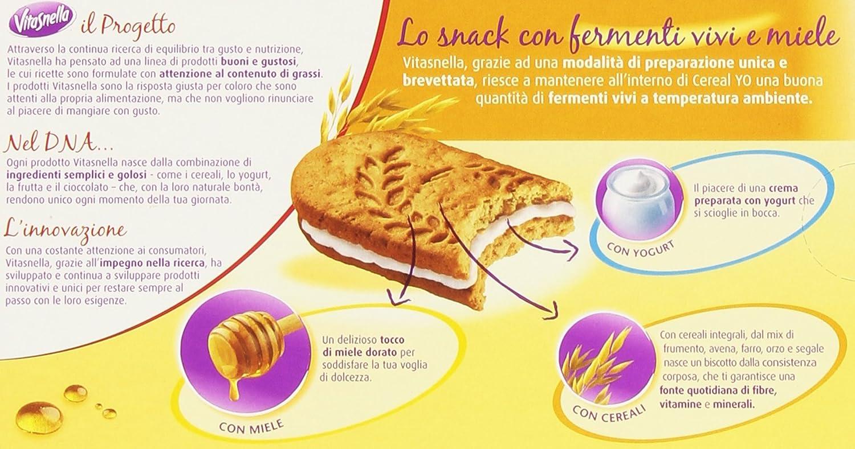 vitasnella - Galletas cereal-yo, con miel - 4 paquetes de 5 ...