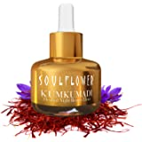 Kumkumadi Oil by Soulflower, Night Beauty Elixir, Pure and Natural, With Precious Oils of Saffron and Almond