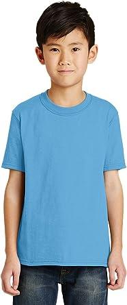 Port /& Company Boys Double Needle Short Sleeve Coverseamed T-Shirt PC55Y