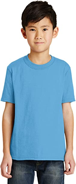 Port /& Company Childs Youth 50//50 Cotton//Poly T-Shirt Ash
