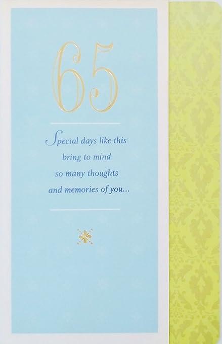 Amazon Happy 65th Birthday Greeting Card