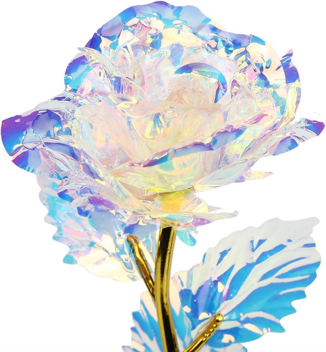 Mitening Personalisierte Frauen Geschenk 24K Gold Rose K/ünstliche Blumen Handgefertigt Deko Geschenke f/ür Hochzeit Freundin Mama Muttertag Frau Geburtstag Hochzeitstag Jahrestag Dankesch/ön Schwester