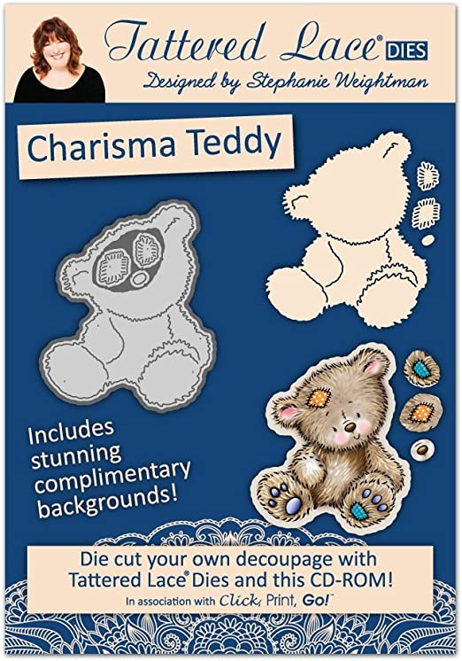 10 X Tattered Lace Teddy Die Cuts for Toppers