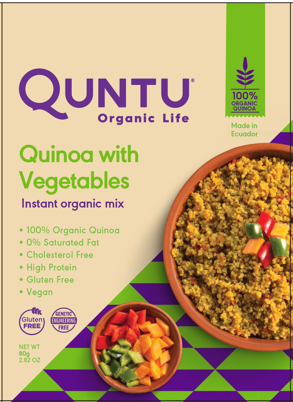 Amazon.com : Quntu Quinoa Mix, Quinoa with Vegetables, 2.8 oz : Grocery & Gourmet Food