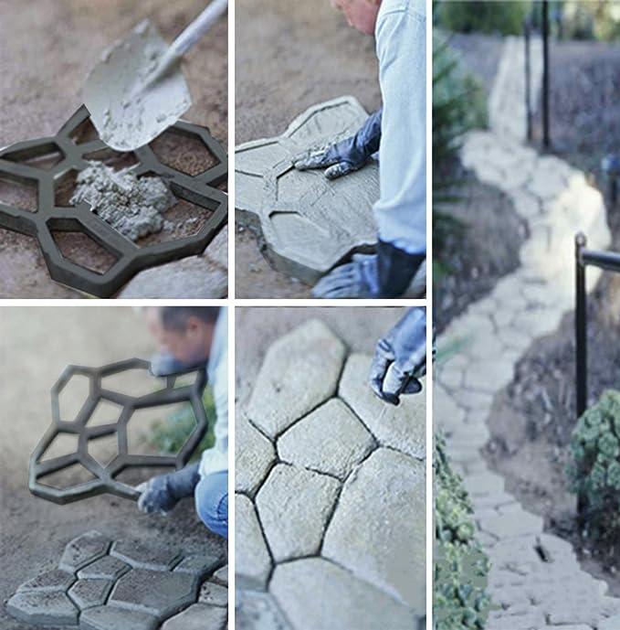 Iso Trade Molde de adoquines - Calle empedrada Molde para pavimento de adoquines, Molde para acera, Molde de empedrado Forma Irregular 5174: Amazon.es: ...