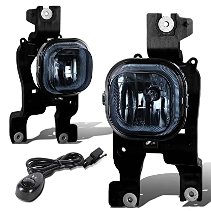 For Ford Super Duty Pair of Bumper Driving Fog Lights + Switch (Smoke Lens)