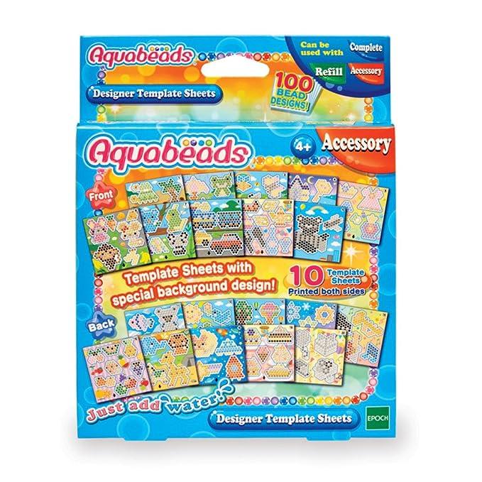 Amazon.com: Aquabeads Designer Template Sheet: Toys & Games