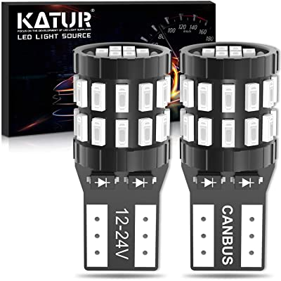 KATUR 194 T10 W5W 168 LED Light Bulb Super Bright Brilliant Red 30-SMD 3014 Chips 12-24V CANBUS Error Free LED Bulbs Replacement for Car Dome Map Door Courtesy License Plate Light(Upgraded Version): Automotive