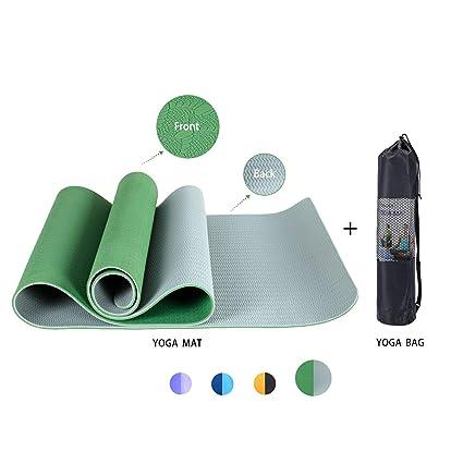 Findream Fitness/Pilates/Yoga Mat Non Slip High Density Anti Slip Eco-Friendly SGS Certified TPE Exercise Yoga Mat 72