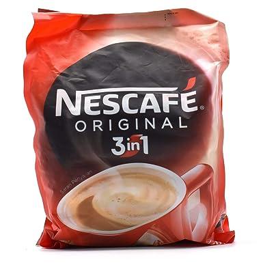 Nescafé 3 en 1 original Café Soluble Bebidas, 30 sobres bolsa
