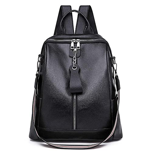 Women PU Leather Fashion Backpack Travel Shoulder Bag Girls Ladies Leather  Rucksack (32 x 31 x 13cm bf59140d6bac0