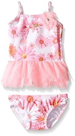 021cd6107c0b Amazon.com  Kate Mack Baby Girls  Dottie Daisy Baby Tankini Swimsuit ...