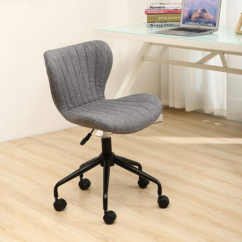MEILEQI Höjdjusterbar kontorsskrivbordsstol svängbar bekväm datorstol roterbar hjul- och hydraulisk lyft lämplig för vardagsrum arbetsrum kontor hem mottagningsstol (färg: I) K