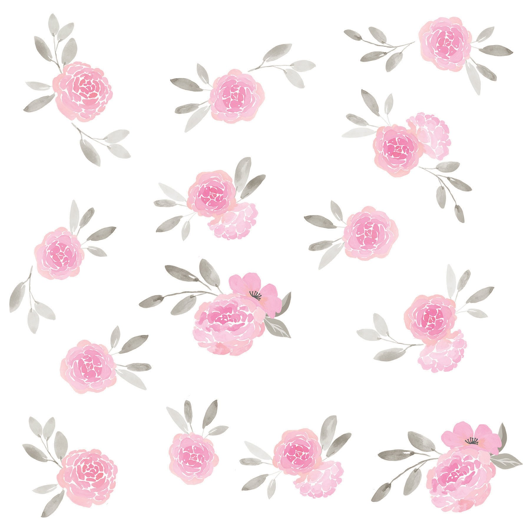 WallPops WPK2458 May Flowers Wall Art Kit, Pink by Wall Pops