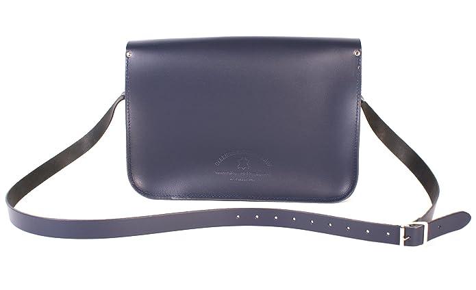 Oxbridge Satchels - Bolso estilo cartera de Piel para mujer azul: Amazon.es: Zapatos y complementos