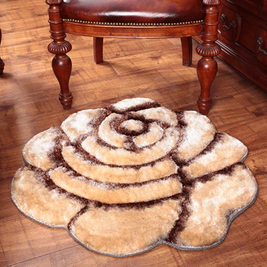 Skandinavien Teppich Teppich Teppich Verdickung Mode 3D Dreidimensionale Rosa Einfarbig Schlafzimmer Nachttisch Runde Teppich Teppiche Matte (Farbe   Magenta, größe   Diameter101101cm) B07B92JZ59 Teppiche 115de8