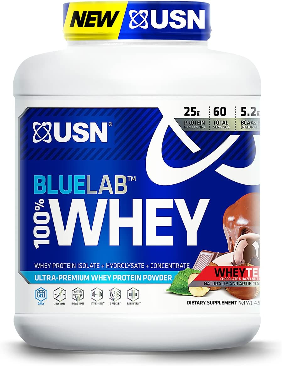 USN BlueLab 100 Percent Whey, 4.5 Pounds, Wheytella
