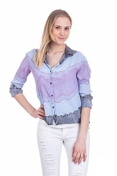 Abbino Franca Camisa Blusa Top para Müjer - Hecho en Italia - 5 Colores - Verano