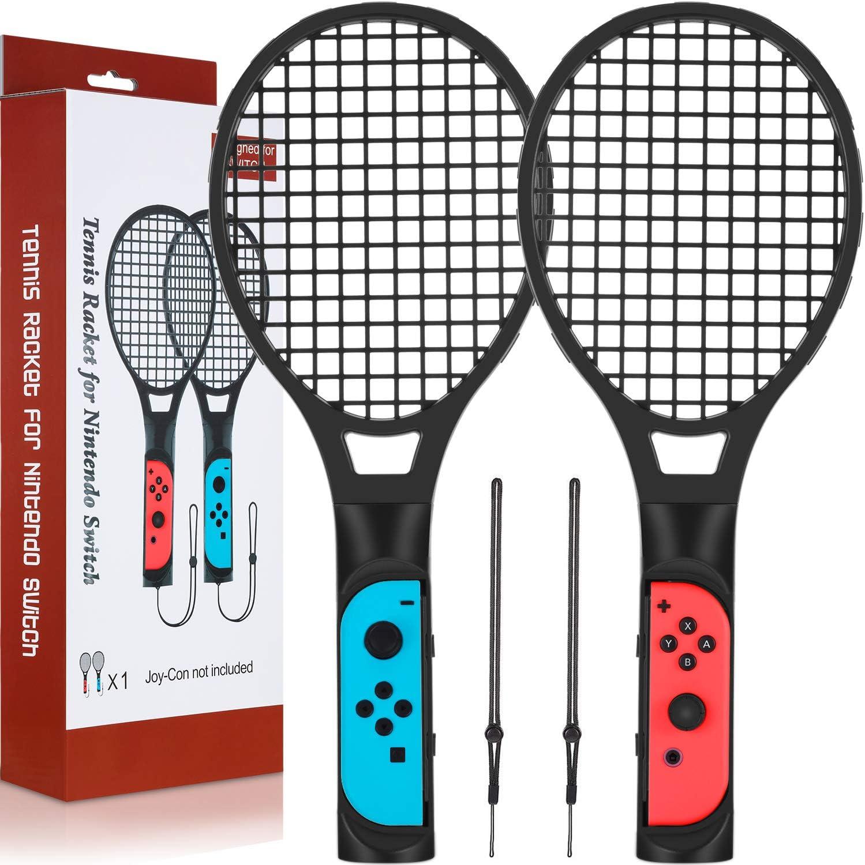 Jetec - Raqueta de tenis para Nintendo Switch, paquete doble de ...