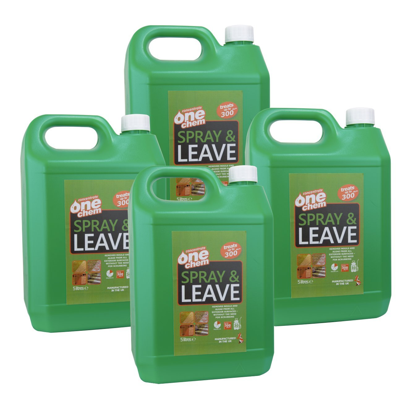 One Chem OneChem001 Spray and Leave Concentrate Algae/Moss/Mold Killer, Clear, 20 Litre