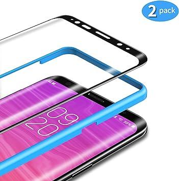 TAMOWA Protector de Pantalla para Samsung Galaxy S8 Plus [2 Piezas ...