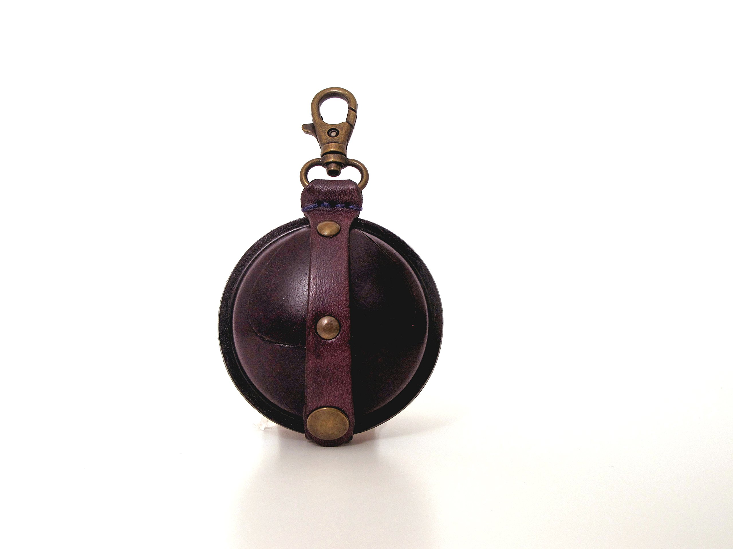 Ball Shape Purple Leather Wallet Change Purse