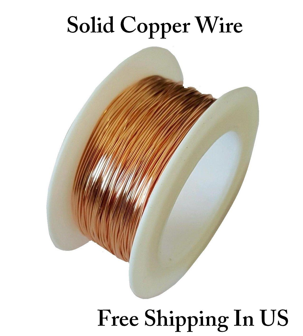 24 Ga Solid Yellow Brass Jewelry /& Craft Wire SOFT 600 Ft. Spool // 10 Oz
