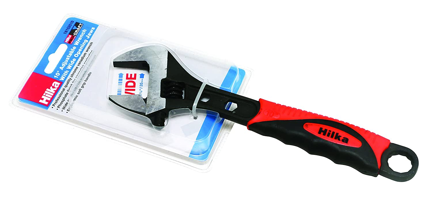 Hilka 18152510 35mm Jaws Pro Craft Soft Grip Adjustable Wrench