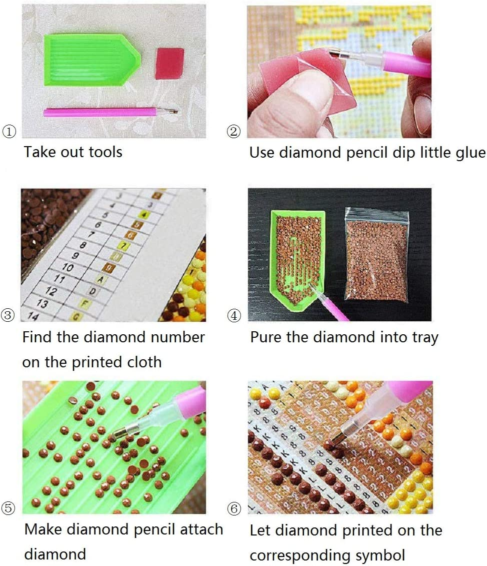 11.8 x 11.8 inches Without Frame Cskunxia 5D DIY Diamond Painting Kit Full Drill Crystal Embroidery Painting Cross Stitch Arts Crafts for Home Wall Decor